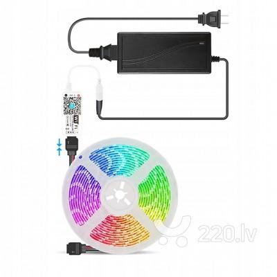 RGB LED lentes komplekts 5m ar WIFI vadību IP20 60leds/m